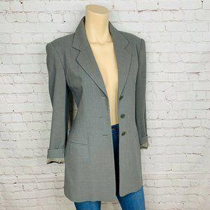 ESCADA Blazer Sz 36 (US 6) Women's Gray Wool Blend